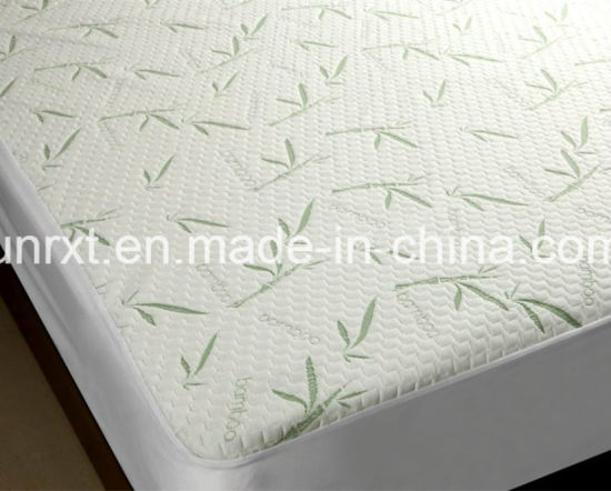 2017 New Luxury Bamboo Terry Cloth Hypoallergenic Waterproof Mattress Protector