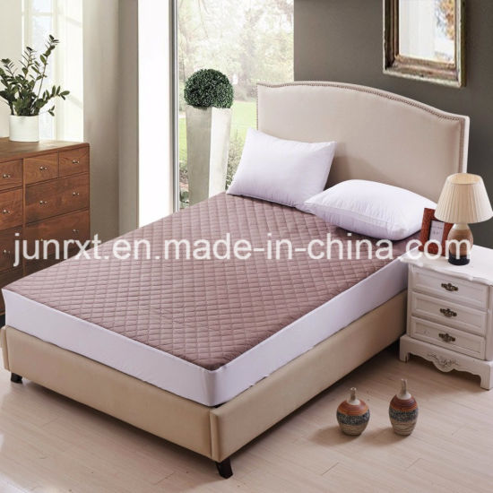China Suppliers Waterproof Breathable Polyester Pongee Mattress Protector Mattress Cover
