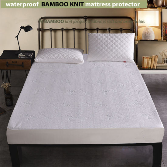 Waterproof Bamboo Knit Jacquard Mattress Protector
