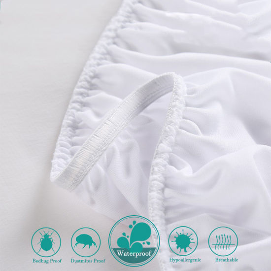 Soft & Noiseless Cotton Terry-Fitted Style Mattress Protector