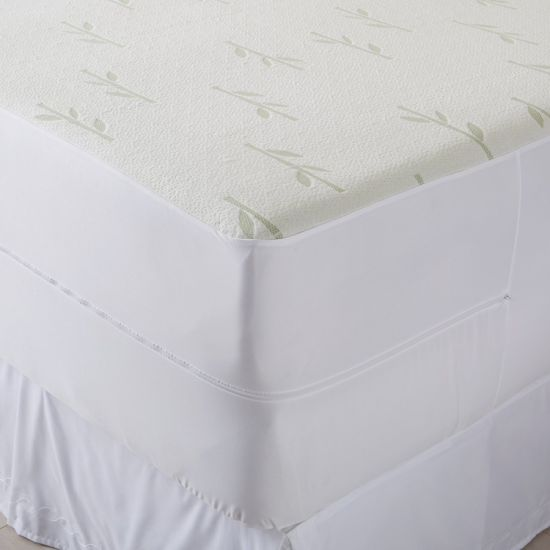 Waterproof, Hypoallergenic, Deep Pocket Zippered Bamboo Mattress Encasement