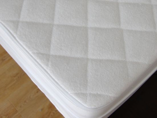 High Quality Waterproof 80% Cotton 20% Polyester Terry Cloth Laminated TPU Mattress Protector