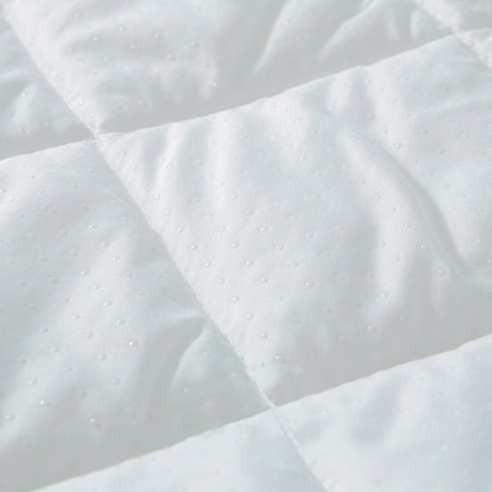 Quilt Waterproof Mattress Protector with Fiberfill for Hotel Wholesale