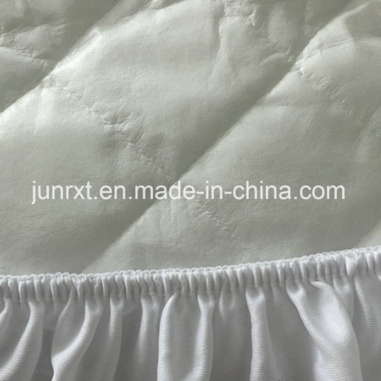 Polyester Fiber Filled Mattress Protector Quilted Mattress Cover with Skirt