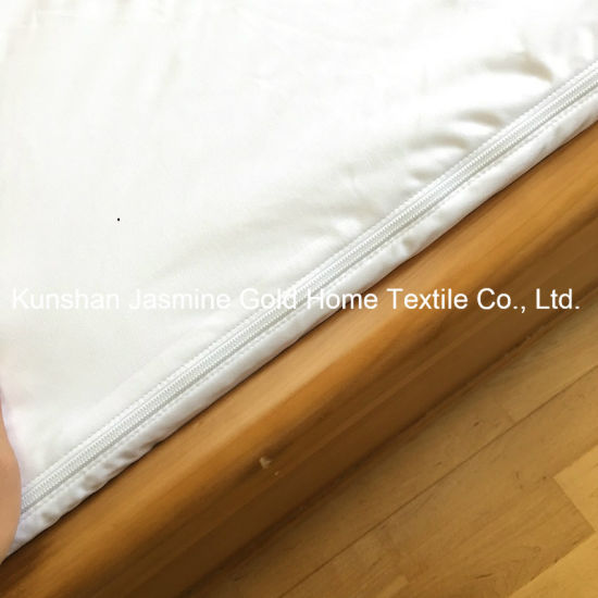 95GSM 100% Polyester Knitted Fabric Double Zipper Waterproof Mattress Encasement