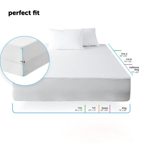 Mattress Protector 100% Waterproof Hypoallergenic