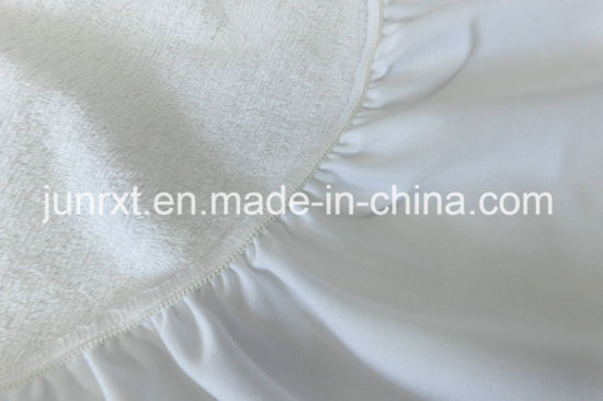 Waterproof Solid Color Terry Cloth Mattress Protector for Bed Home Textile