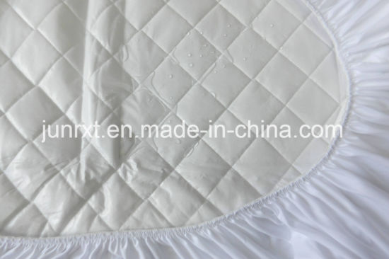 Latest Design Soft Quilted Bamboo Fiber Air Layer TPU Coated Waterproof Cot Crib Mattress Protector for Baby