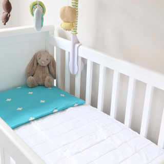 Crib quilted Waterproof Mattress Pad Hot selling 75% bamboo 25% poly terry fabric laminated with TPU Waterproof Mattress Protector
