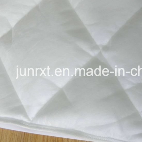Baby Crib Polyester Pongee Quilted Mattress Cover Waterproof Bed Bug Proof Mattress Protector