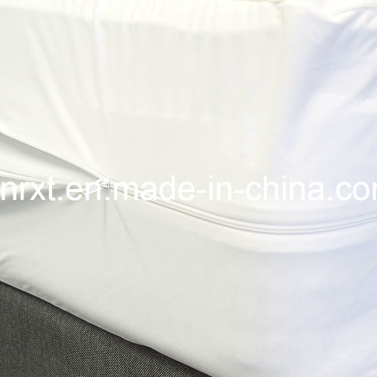 King Size 95GSM 100% Polyester knitted Fabric Waterproof Mattress Protector