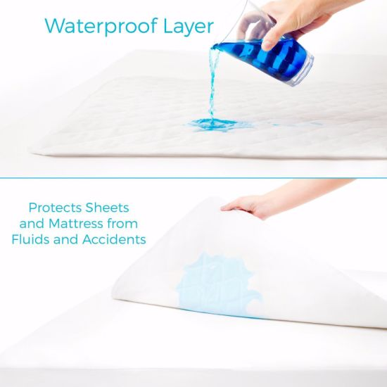 Waterproof Sheet Protector with Soft Cotton Blend Cover